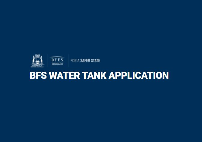 Bush Fire Brigade Water Tank Funding Initiative